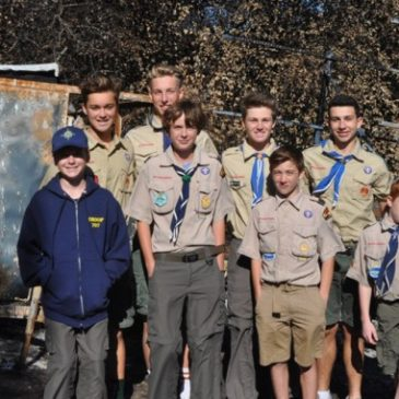 Troop 707 recovers after Santa Rosa Fires